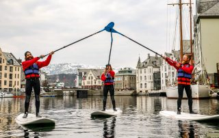 Stand-up paddle in Ålesund