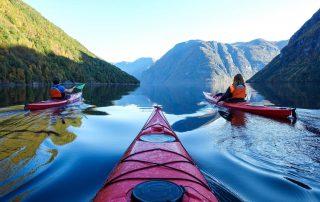 Fjord kayaking from Hellesylt