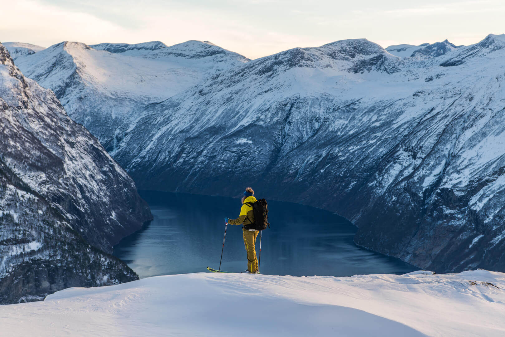 Ski touring in Stranda, Norway